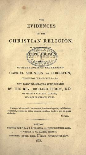 Download The evidences of the Christian religion