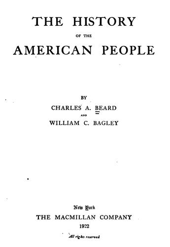 The history of the American people.