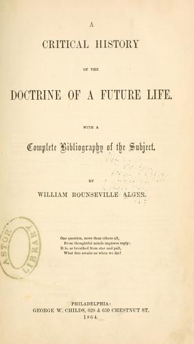 Download A critical history of the doctrine of a future life.