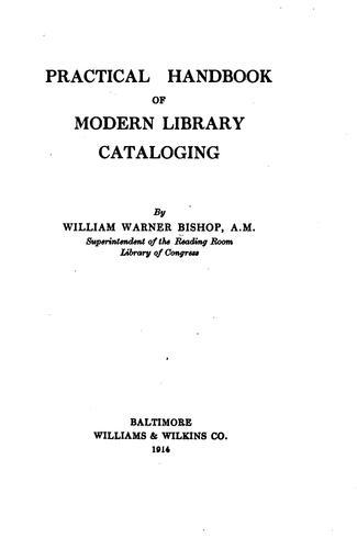 Download Practical handbook of modern library cataloging