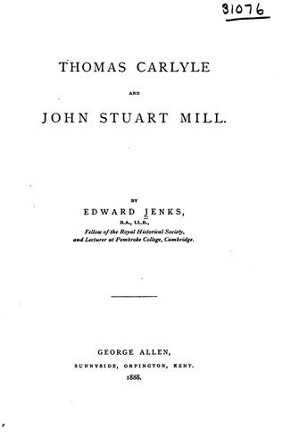 Download Thomas Carlyle and John Stuart Mill.