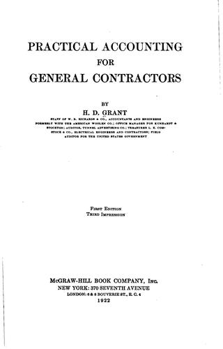 Download Practical accounting for general contractors