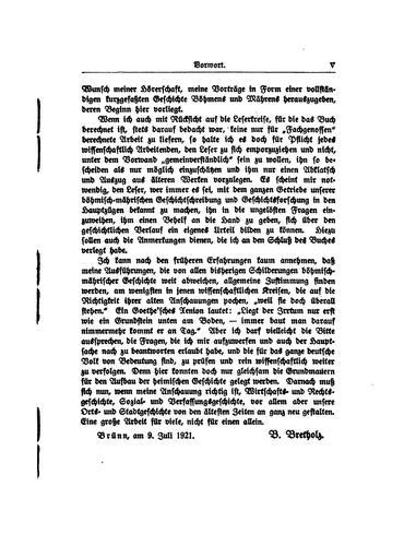 Geschichte Böhmens und Mährens