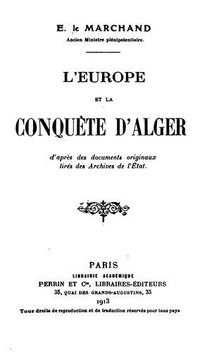 L' Europe et la conquête d'Alger