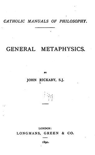General metaphysics