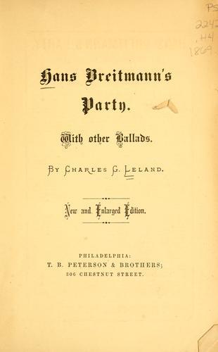 Hans Breitmann's party.