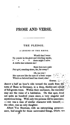 Download Prose and verse, from the port folio of an editor