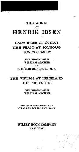Download The works of Henrik Ibsen …