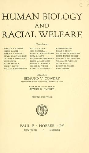 Download Human biology and racial welfare