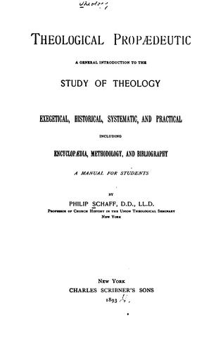 Download Theological propædeutic