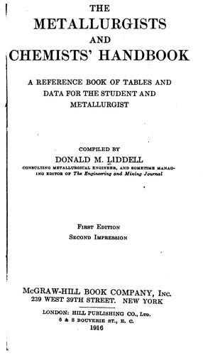 Download The metallurgists and chemists' handbook