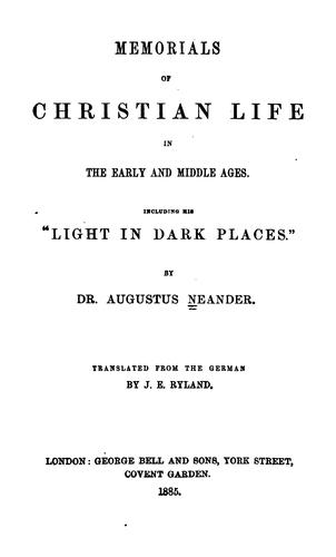 Download Memorials of Christian life in the early and middle ages.