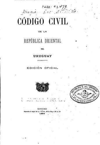 Download Código civil de la República Oriental del Uruguay.
