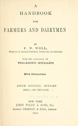 A handbook for farmers and dairymen.