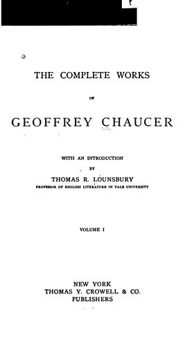 Download The complete works of Geoffrey Chaucer