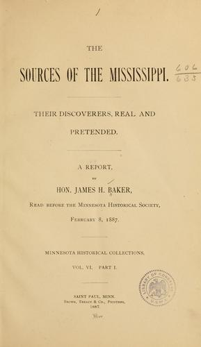 Download The sources of the Mississippi.