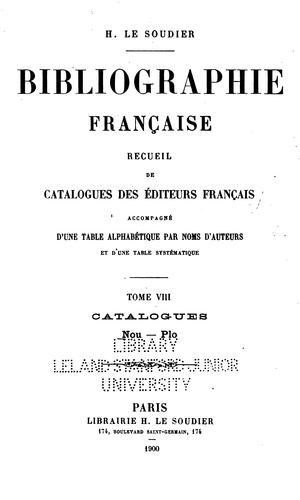 Download Bibliographie française