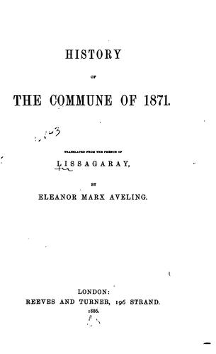 History of the Commune of 1871.