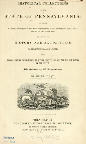 Download Historical collections of the State of Pennsylvania