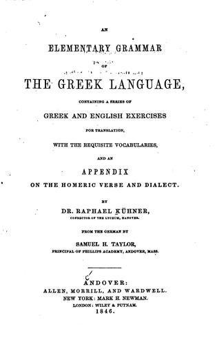 Download An elementary grammar of the Greek language