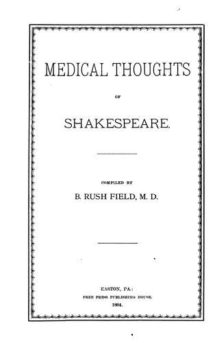 Download Medical thoughts of Shakespeare.
