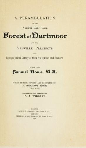 A perambulation of the antient and royal forest of Dartmoor and the Venville precincts