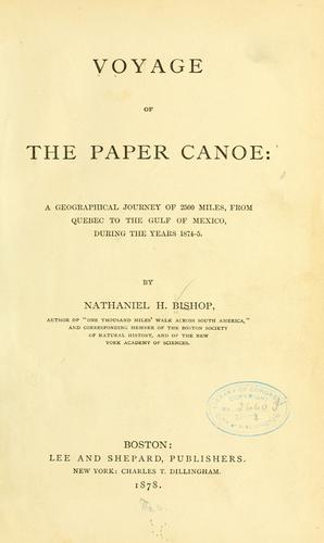Download Voyage of the paper canoe