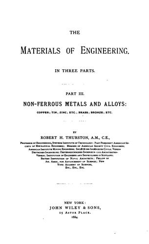 The materials of engineering.