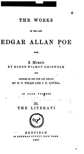Download The works of the late Edgar Allan Poe
