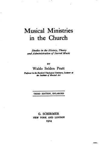 Download Musical ministries in the church