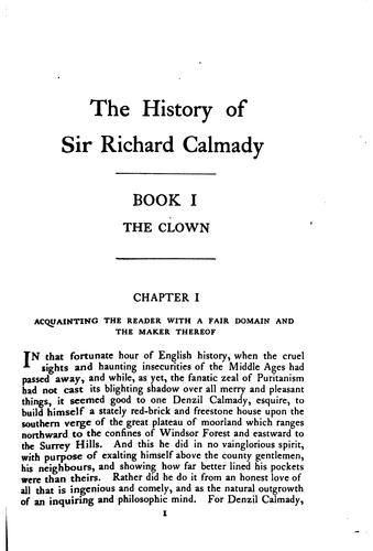 Download The history of Sir Richard Calmady
