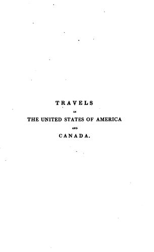 Download Travels in the United States of America and Canada
