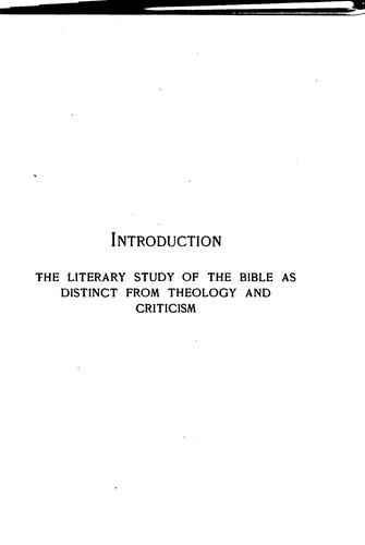 Download A short introduction to the literature of the Bible.
