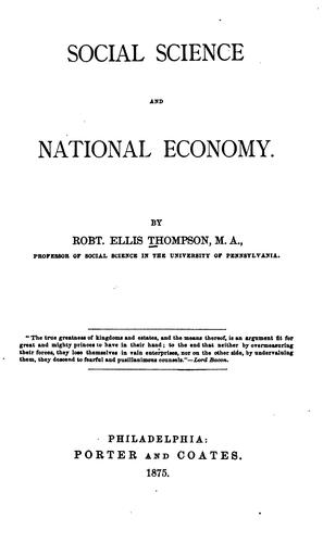 Social science and national economy.