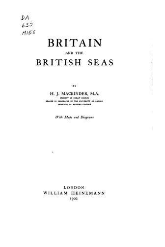 Download Britain and the British seas