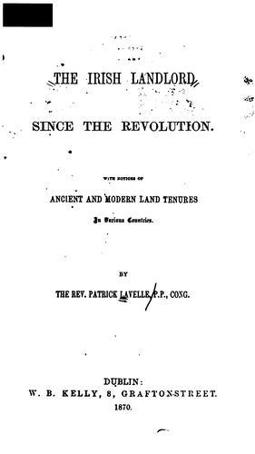 Download The Irish landlord since the revolution