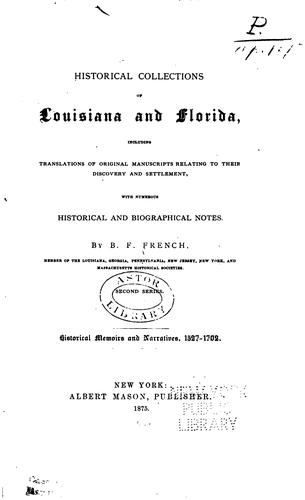 Download Historical collections of Louisiana and Florida