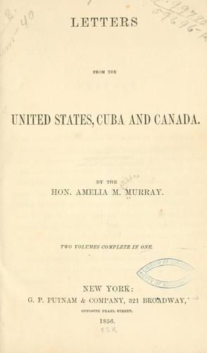 Download Letters from the United States, Cuba and Canada.
