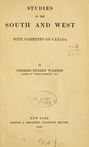 Download Studies in the South and West