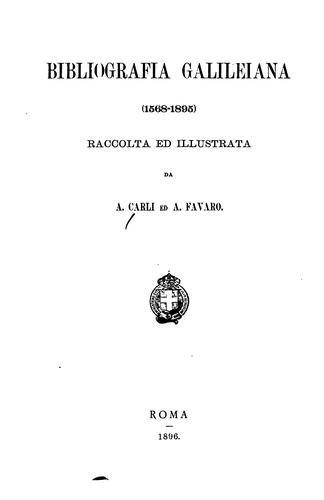 Bibliografia galileiana (1568-1895)