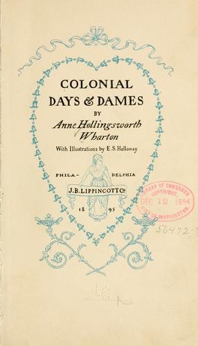 Download Colonial days & dames