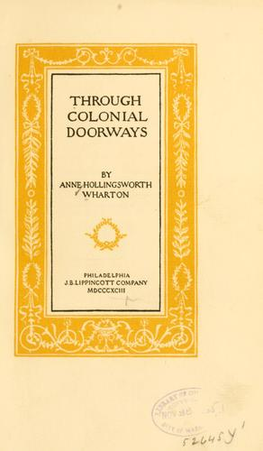 Download Through colonial doorways.