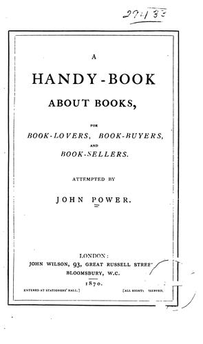 Download A handy-book about books