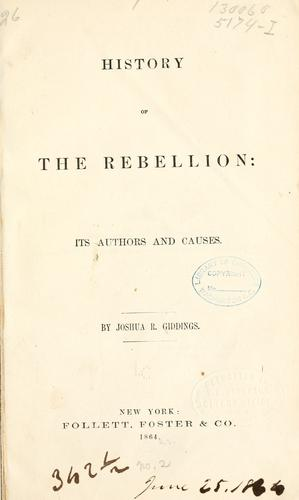 Download History of the rebellion
