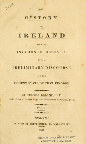 Download The history of Ireland from the invasion of Henry II.