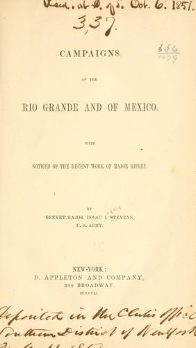 Download Campaigns of the Rio Grande and of Mexico.