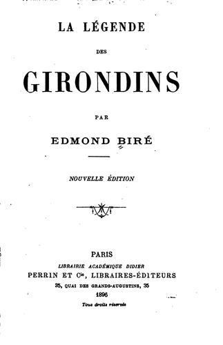 La légende des Girondins