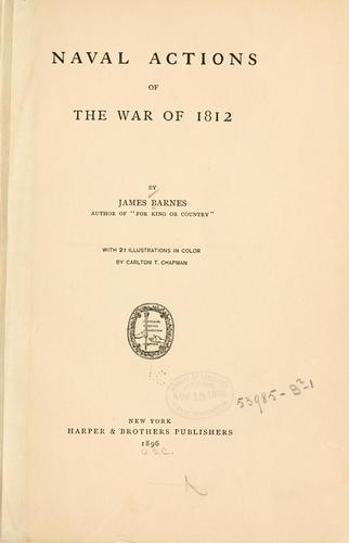 Download Naval actions of the War of 1812
