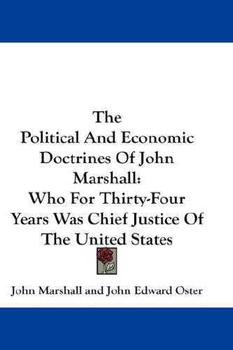 Download The Political And Economic Doctrines Of John Marshall