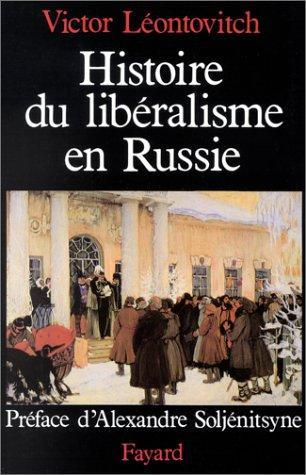 Download Histoire du libéralisme en Russie